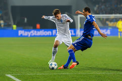 FC Dinamo vs FC Chelsea. UEFA Champions' League Royalty Free Stock Photography