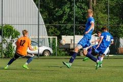 FC Dnipro contra FC Nikopol fotos de archivo
