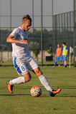 FC Dnipro contra FC Nikopol imágenes de archivo libres de regalías