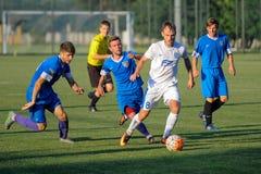 FC Dnipro contra FC Nikopol fotografía de archivo