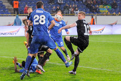 FC Dnipro contre FC Zorya Tasse de l'Ukraine demi-finale Photo stock