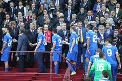 FC Dnipro Dnipropetrovsk - los medallistas de plata del euro de la UEFA fotos de archivo libres de regalías