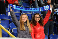 FC Dnipro fans Stock Photo