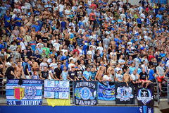 FC Dnipro fans Stock Photography