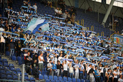 FC Dnipro football fans Stock Image