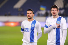 FC Dnipro football players Royalty Free Stock Images