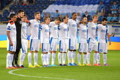 FC Dnipro football team players Royalty Free Stock Photos