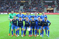FC Dnipro graczów poza dla grupowej fotografii Zdjęcie Royalty Free