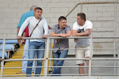 FC Dnipro managers during the match Stock Photography