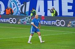 FC Dnipro Oleksandr Chervonyi的退伍军人 免版税图库摄影