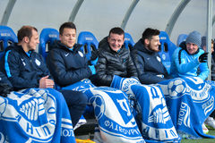 FC Dnipro palyers Stock Image
