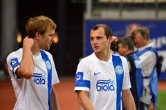 FC Dnipro players after the game Stock Photos