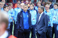 FC Dnipro players react after lose the Final Stock Image