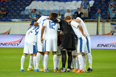 FC Dnipro team together Stock Photography