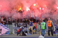 FC Dnipro ultras (ultra supporters) Stock Photos