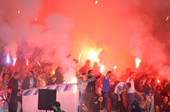 FC Dnipro ultras (ultra supporters) Royalty Free Stock Image