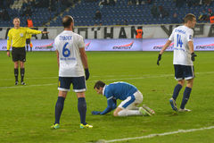 FC Dnipro vs  FC Hoverla. Ukrainian Premier League Stock Photos