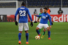 FC Dnipro vs FC Saint-Etienne. UEFA Europa League Stock Photo