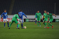 FC Dnipro vs FC Saint-Etienne. UEFA Europa League Stock Image