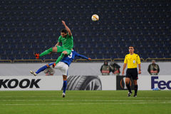 FC Dnipro vs FC Saint-Etienne. UEFA Europa League Stock Photography