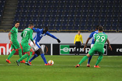 FC Dnipro vs FC Saint-Etienne. UEFA Europa League Royalty Free Stock Photo