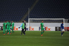 FC Dnipro vs FC Saint-Etienne. UEFA Europa League Royalty Free Stock Photography
