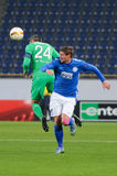 FC Dnipro vs FC Saint-Etienne. UEFA Europa League Royalty Free Stock Photos