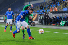 FC Dnipro vs FC Saint-Etienne. UEFA Europa League Stock Images