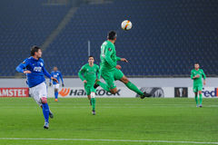 FC Dnipro vs FC Saint-Etienne. UEFA Europa League Royalty Free Stock Images