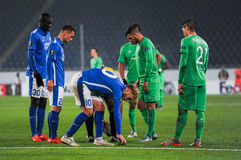FC Dnipro vs FC Saint-Etienne. UEFA Europa League Stock Photos