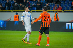 FC Dnipro vs FC Shakhtar. Ukrainian championship Stock Photo