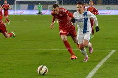 FC Dnipro vs FC Volyn Ukrainian championship Stock Photos