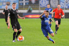 FC Dnipro vs FC Zorya. Ukraine Cup. Semifinal Royalty Free Stock Images