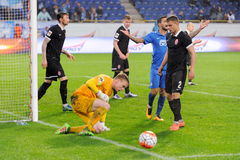 FC Dnipro vs FC Zorya. Ukraine Cup. Semifinal Royalty Free Stock Photo