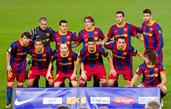 FC drużyna Barcelona Zdjęcia Royalty Free