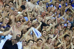 FC Dynamo Kiev team supporters Stock Photos
