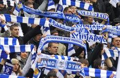 FC Dynamo Kiev team supporters Stock Photos