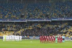 FC Dynamo Kyiv игры лиги чемпионов UEFA v Besiktas стоковая фотография