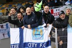 FC Dynamo Kyiv de jeu de ligue de champions d'UEFA contre Manchester City Photographie stock libre de droits