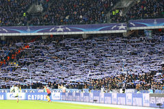 FC Dynamo Kyiv de jeu de ligue de champions d'UEFA contre Manchester City dedans Photos stock