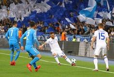 FC Dynamo Kyiv del gioco della lega di campioni di UEFA contro Napoli Fotografie Stock