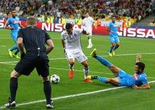FC Dynamo Kyiv del gioco della lega di campioni di UEFA contro Napoli Fotografia Stock Libera da Diritti