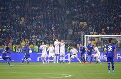 FC Dynamo Kyiv del juego de la liga de campeones de UEFA contra Chelsea Foto de archivo