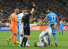 FC Dynamo Kyiv del juego de la liga de campeones de UEFA contra Napoli Foto de archivo