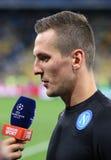 FC Dynamo Kyiv del juego de la liga de campeones de UEFA contra Napoli Imagen de archivo