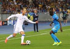 FC Dynamo Kyiv del juego de la liga de campeones de UEFA contra Napoli fotografía de archivo