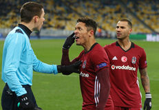 FC Dynamo Kyiv del juego de la liga de campeones de UEFA v Besiktas Fotografía de archivo libre de regalías