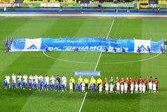 FC Dynamo Kyiv del partido de fútbol contra Shakhtar Donetsk Foto de archivo libre de regalías