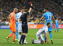 FC Dynamo Kyiv do jogo da liga de campeões de UEFA contra Napoli foto de stock