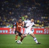 FC Dynamo Kyiv do jogo de futebol contra Shakhtar Donetsk Imagens de Stock Royalty Free